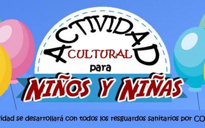 AGOSTO LLEGA CON ACTIVIDAD CULTURAL PARA NIÑOS Y NIÑAS DE PUERTO WILLIAMS